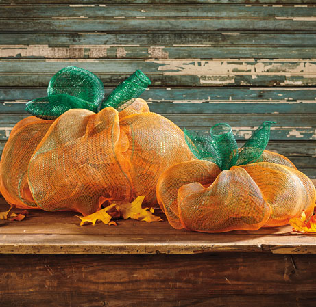 Decorative Mesh Pumpkin