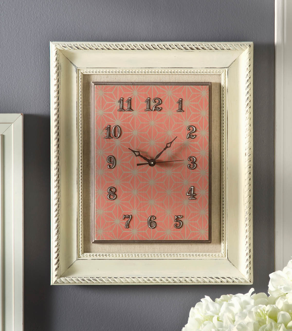 Home Decor Chalk Framed Clock