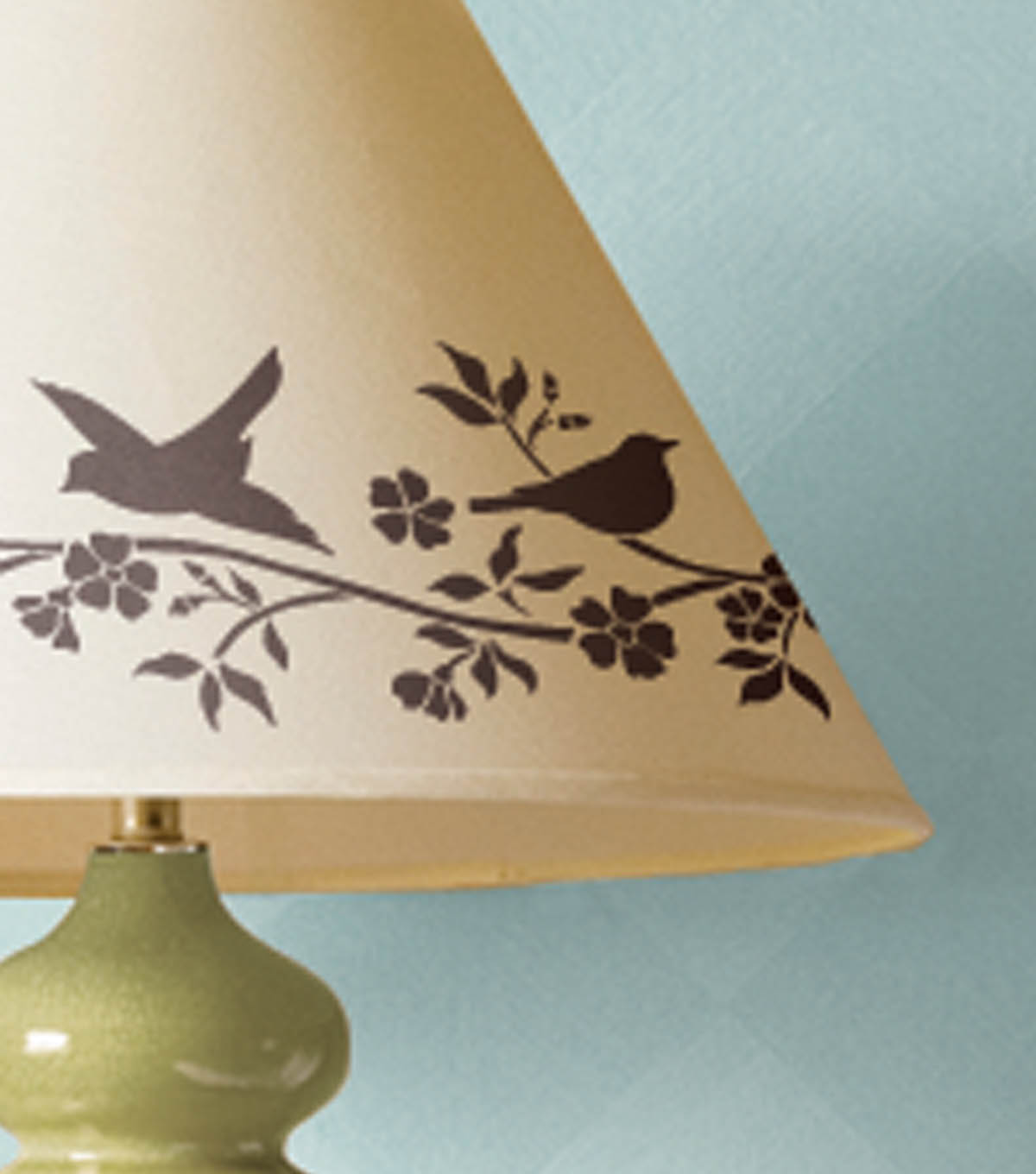 Painted Birds Lampshade