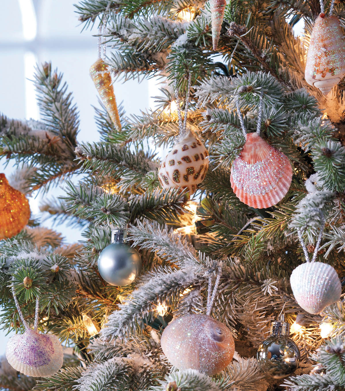 Sparkling Seashell Ornaments