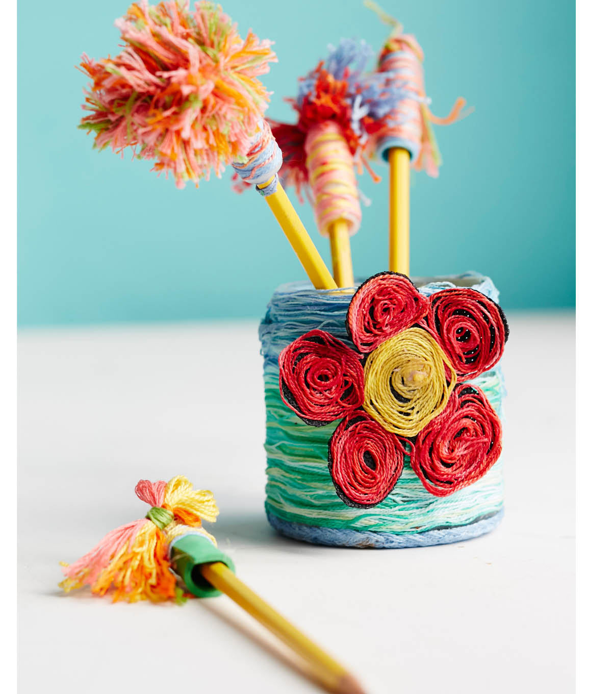 Upcycled Pencil Jar and Topper