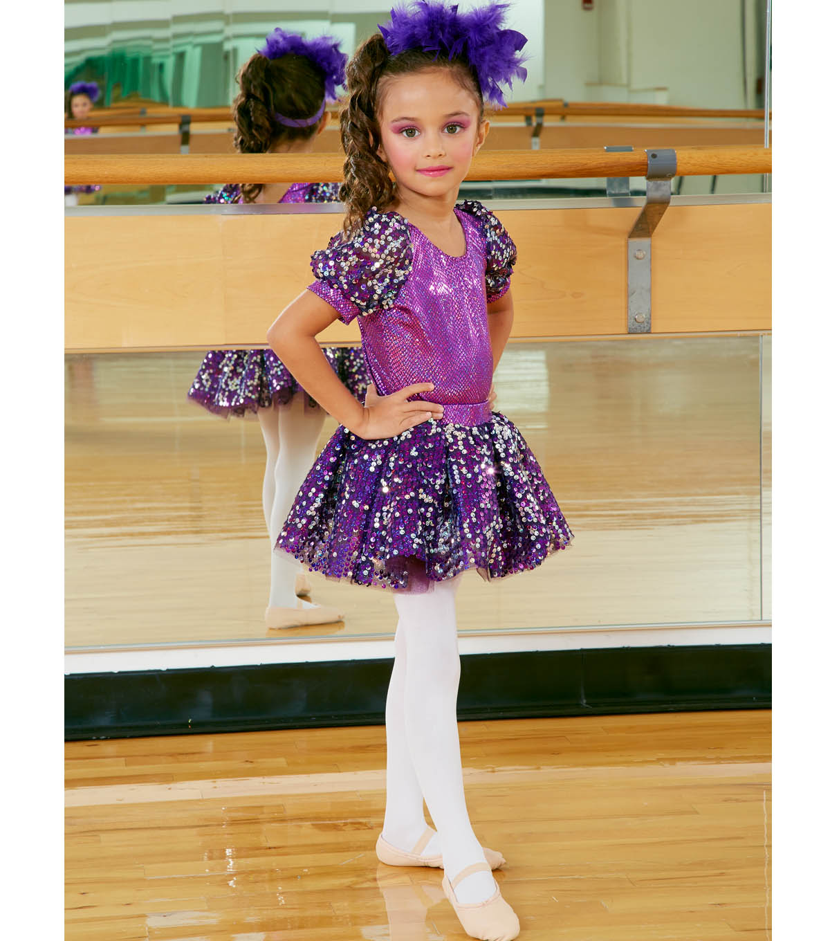 Purple Dance Costume and Headband