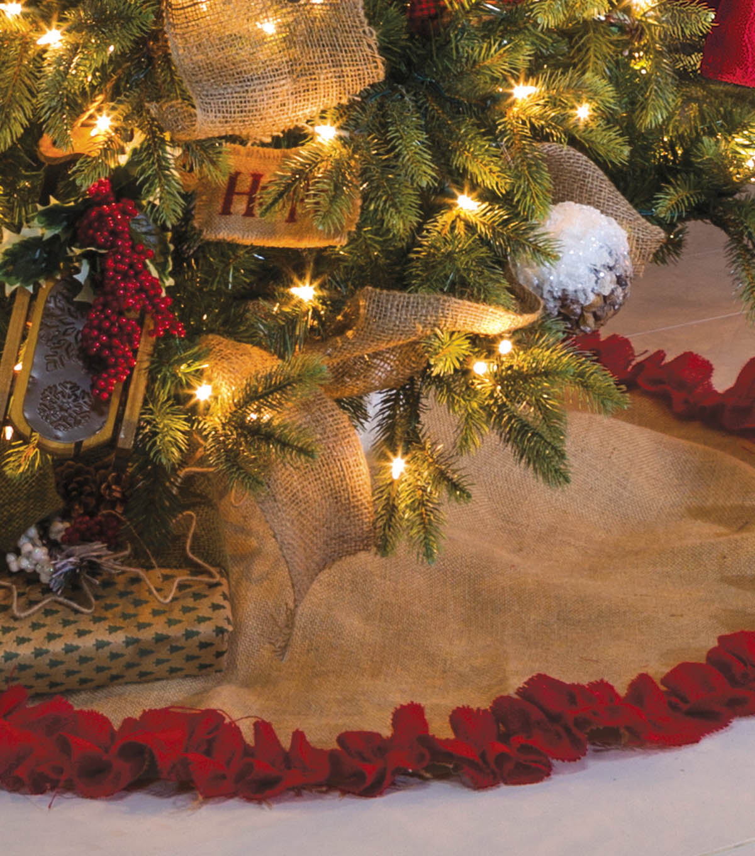 burlap tree skirt - Large Christmas Tree Skirts