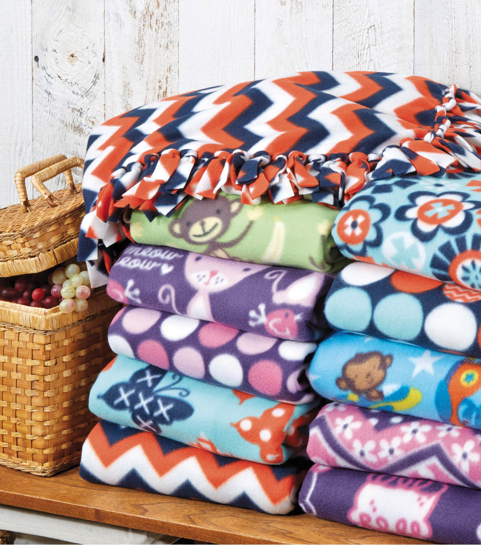 No Sew Fleece Blanket Diy Fleece Throw Joann