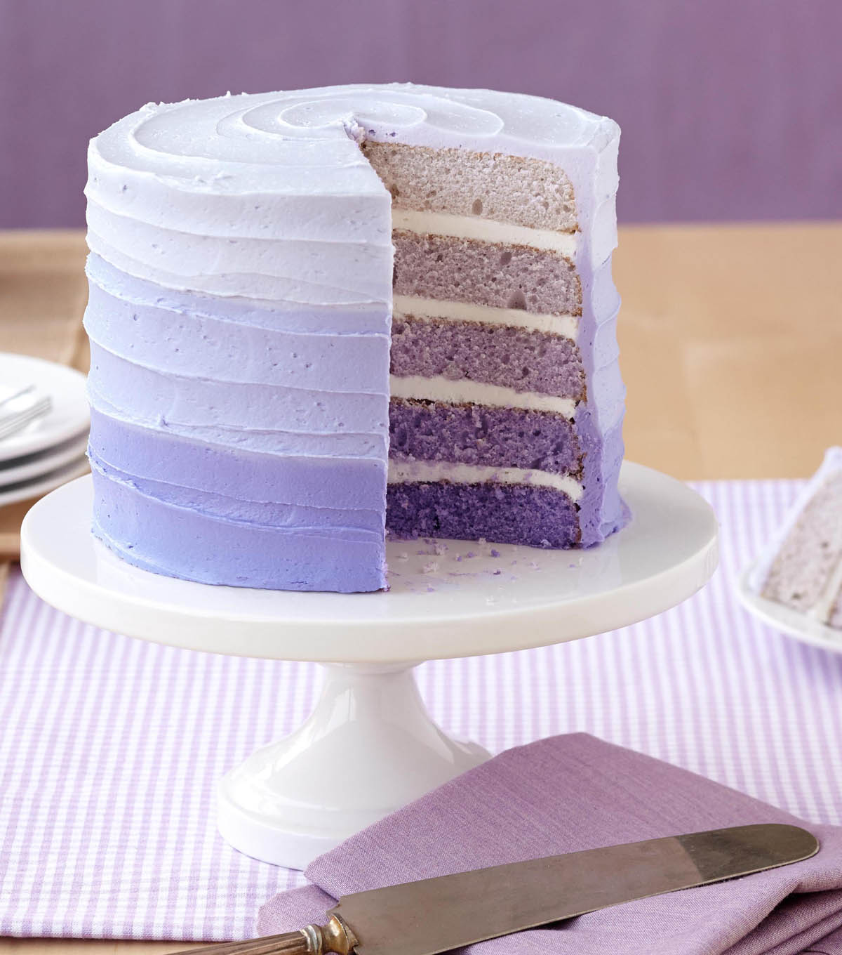 Violet Ombre Cake with 5 Layers