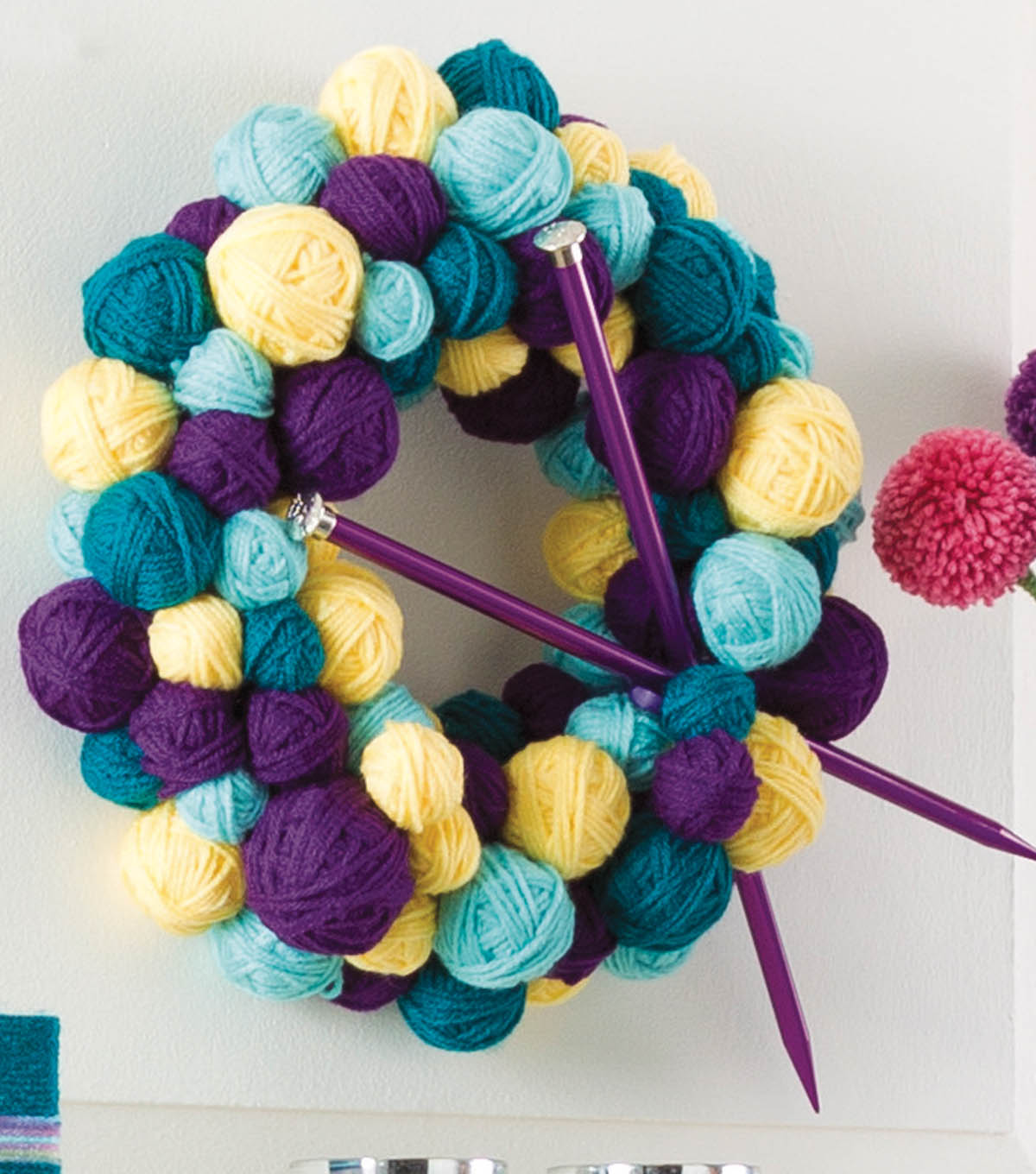 Wreath of Yarn Balls