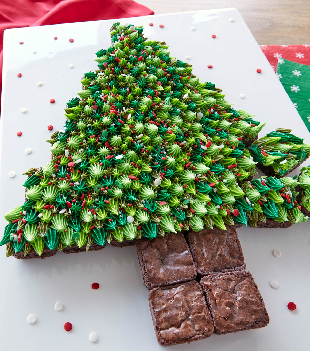 How To Make A Pull Apart Brownie Bite Christmas Tree