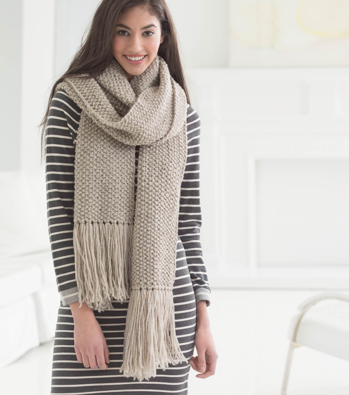 Taupe Textured Scarf