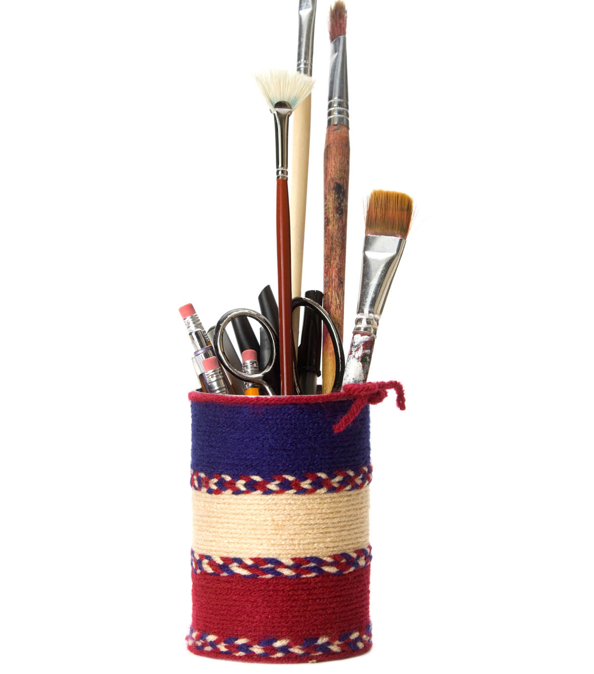 Yarn Wrapped Pencil Holder