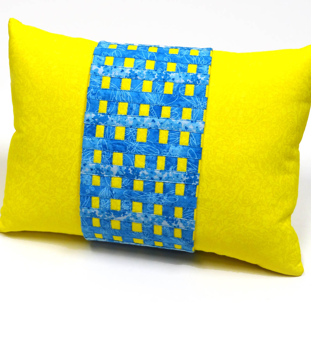 Grid Embellished Pillow