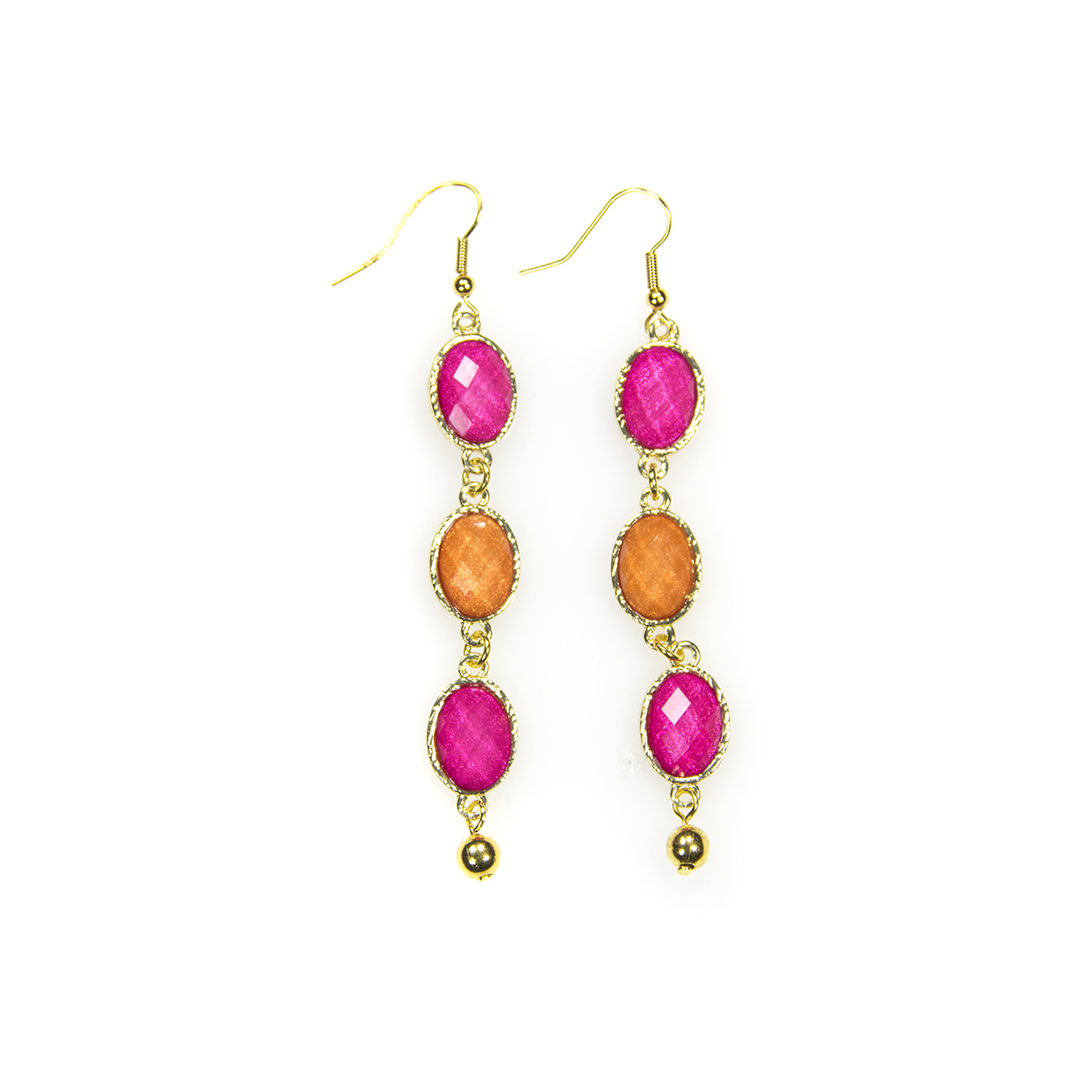 Faceted Jewel Drop Earrings