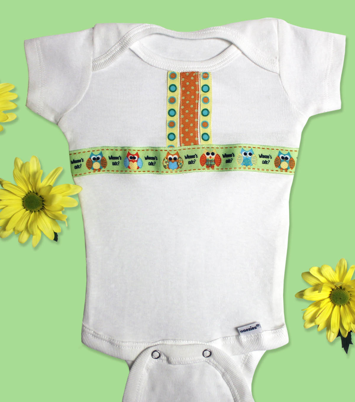 Babyville Boutique Owl Ribbon Onesies