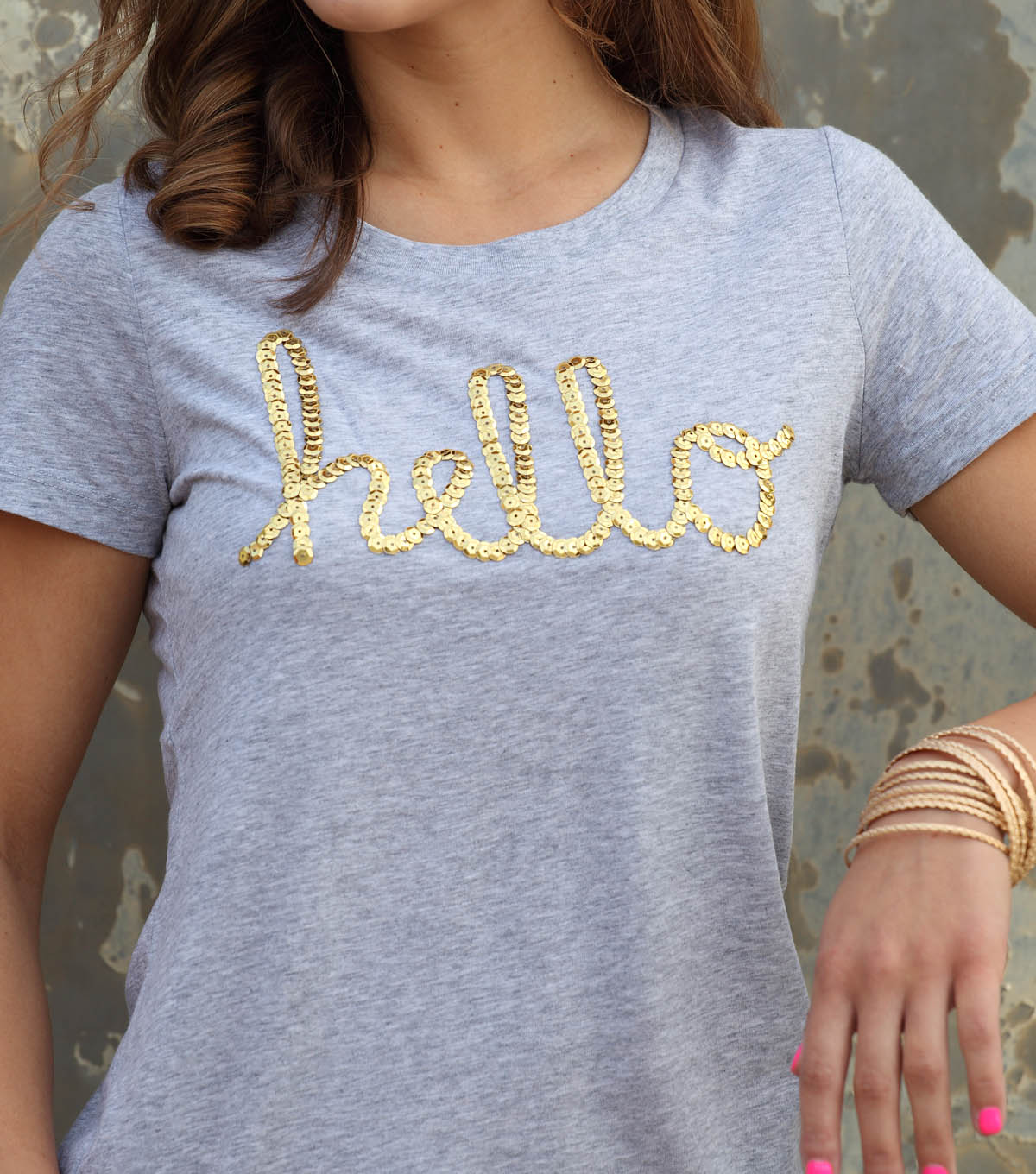 Hello Sequins T-Shirt