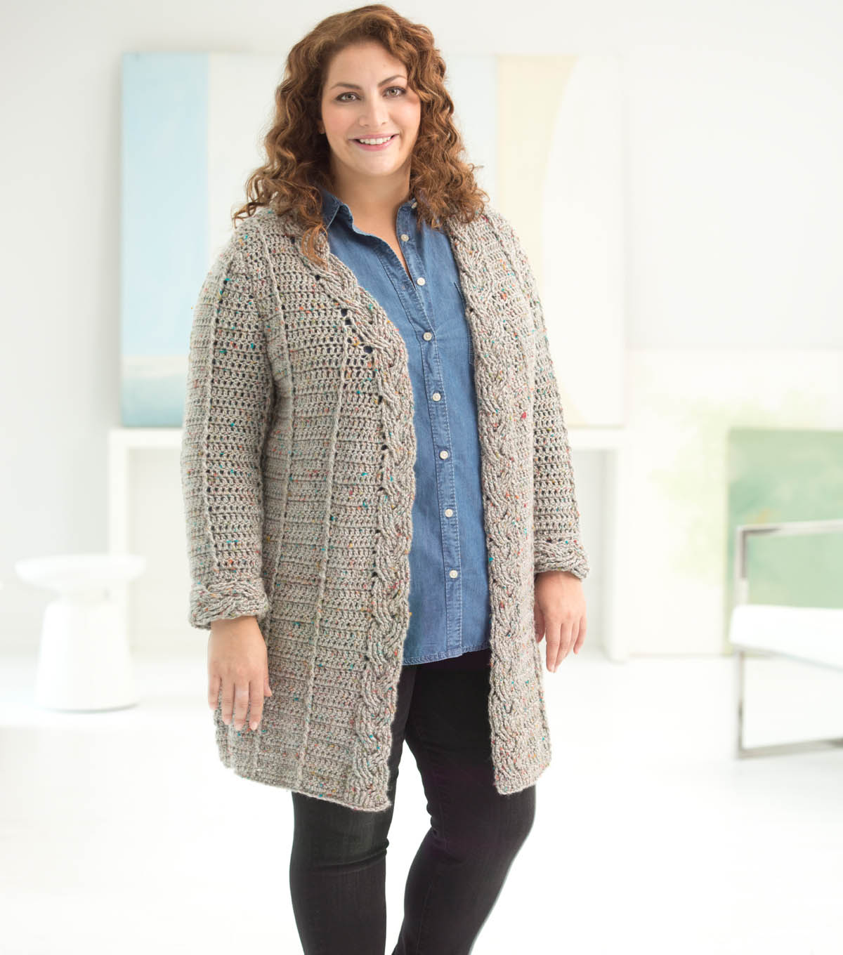 How To Make A Curvy Girl Crochet Cabled Cardigan