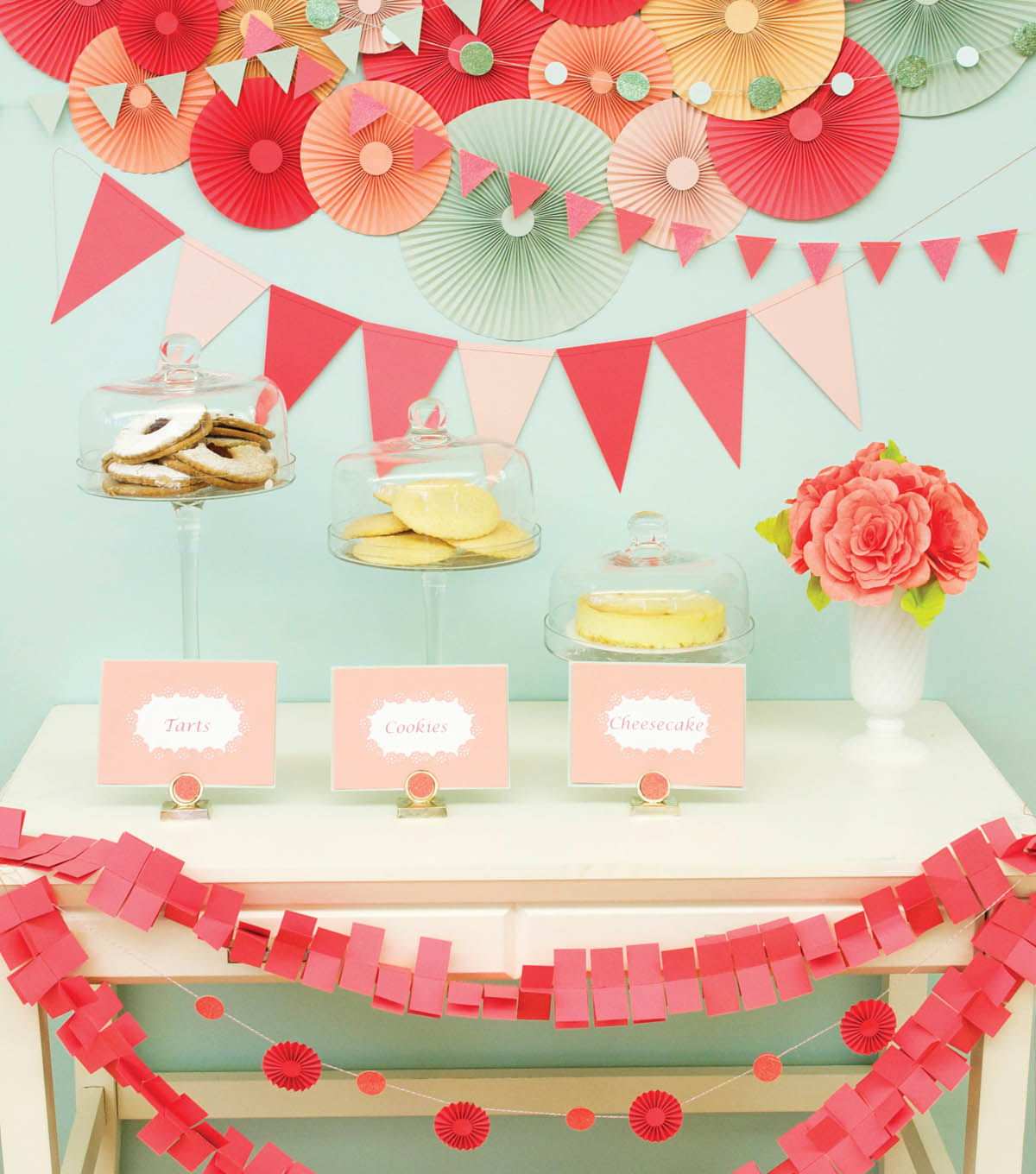Medallions and Garlands Party Table and Wall Decor
