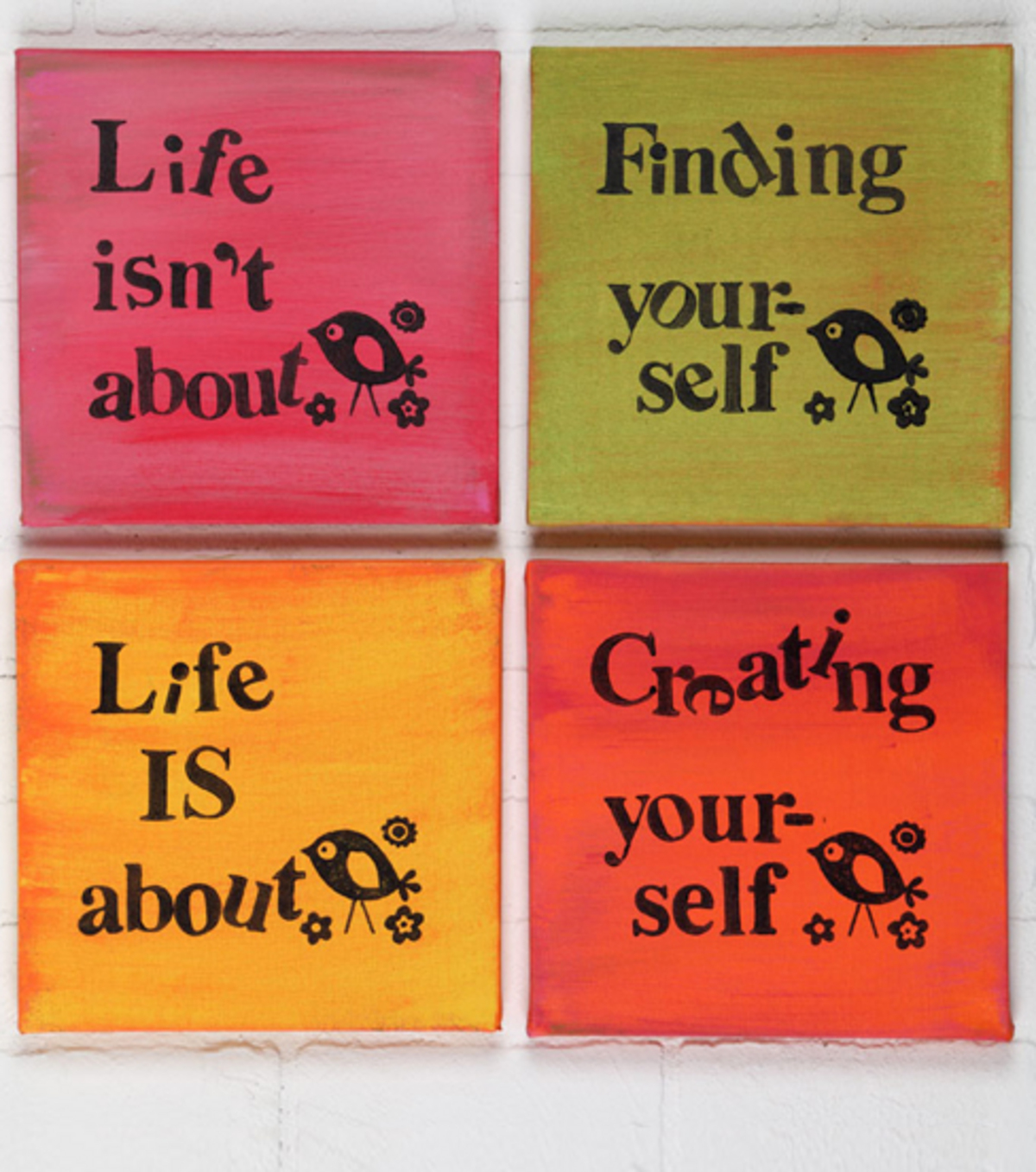 Creating Yourself Canvas Wall Art