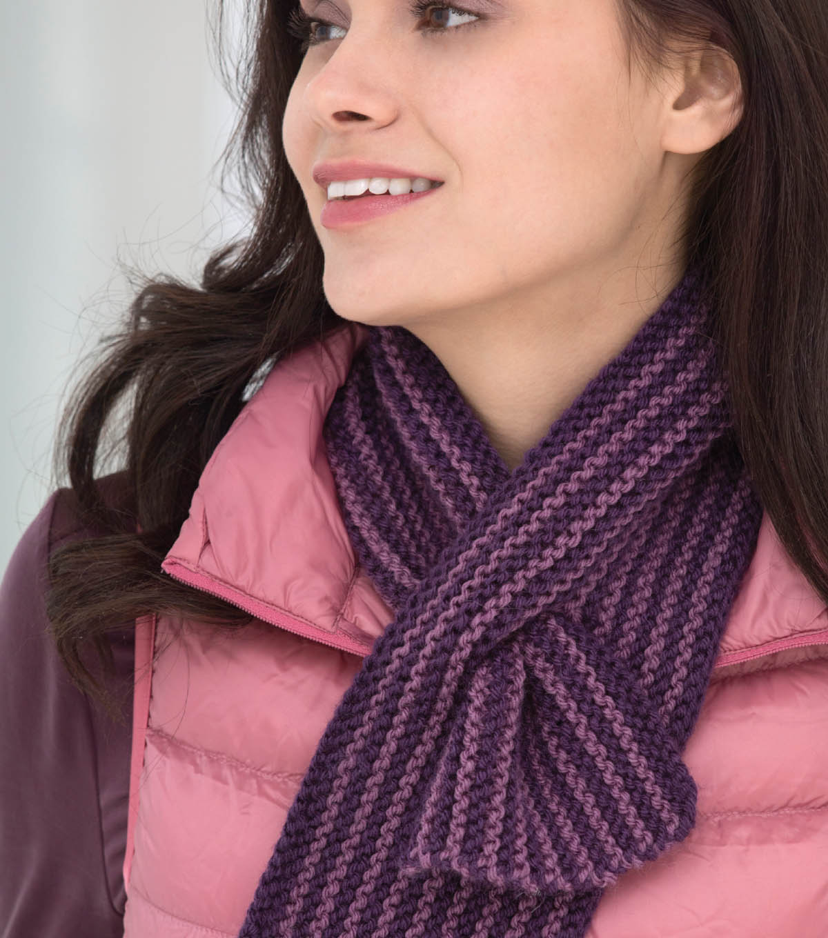 Striped Keyhole Scarf