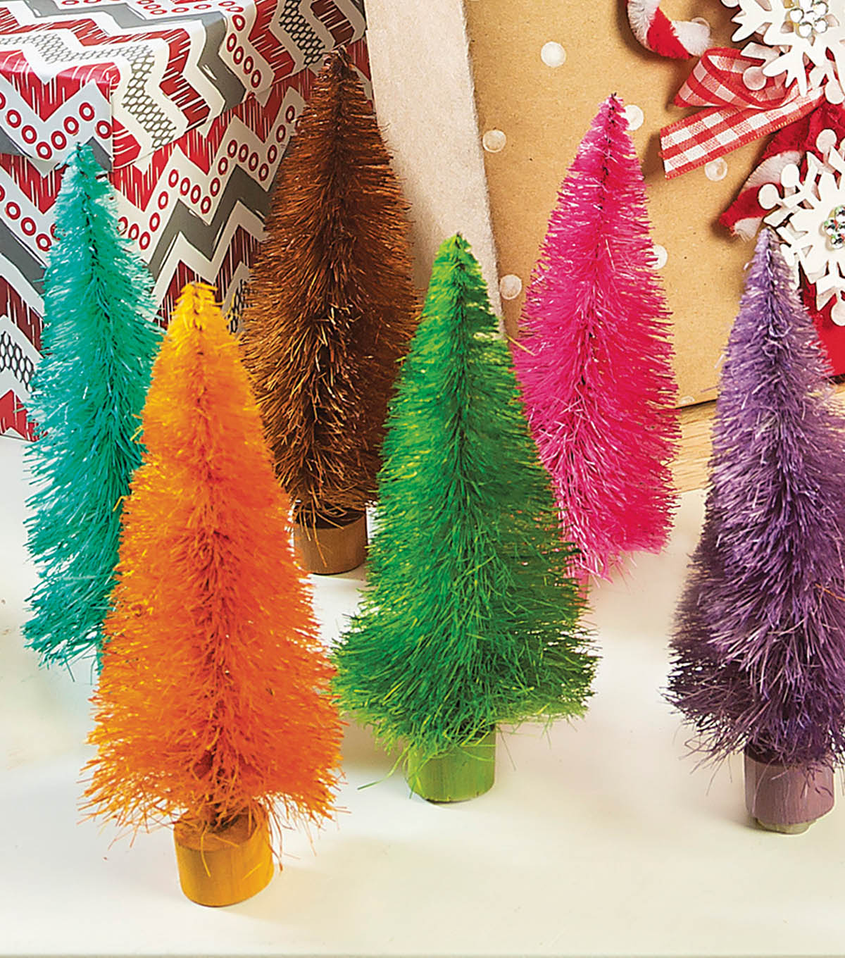 Dyed Christmas Trees