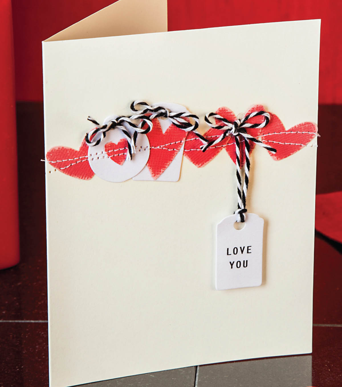 Hearts- Love you Card