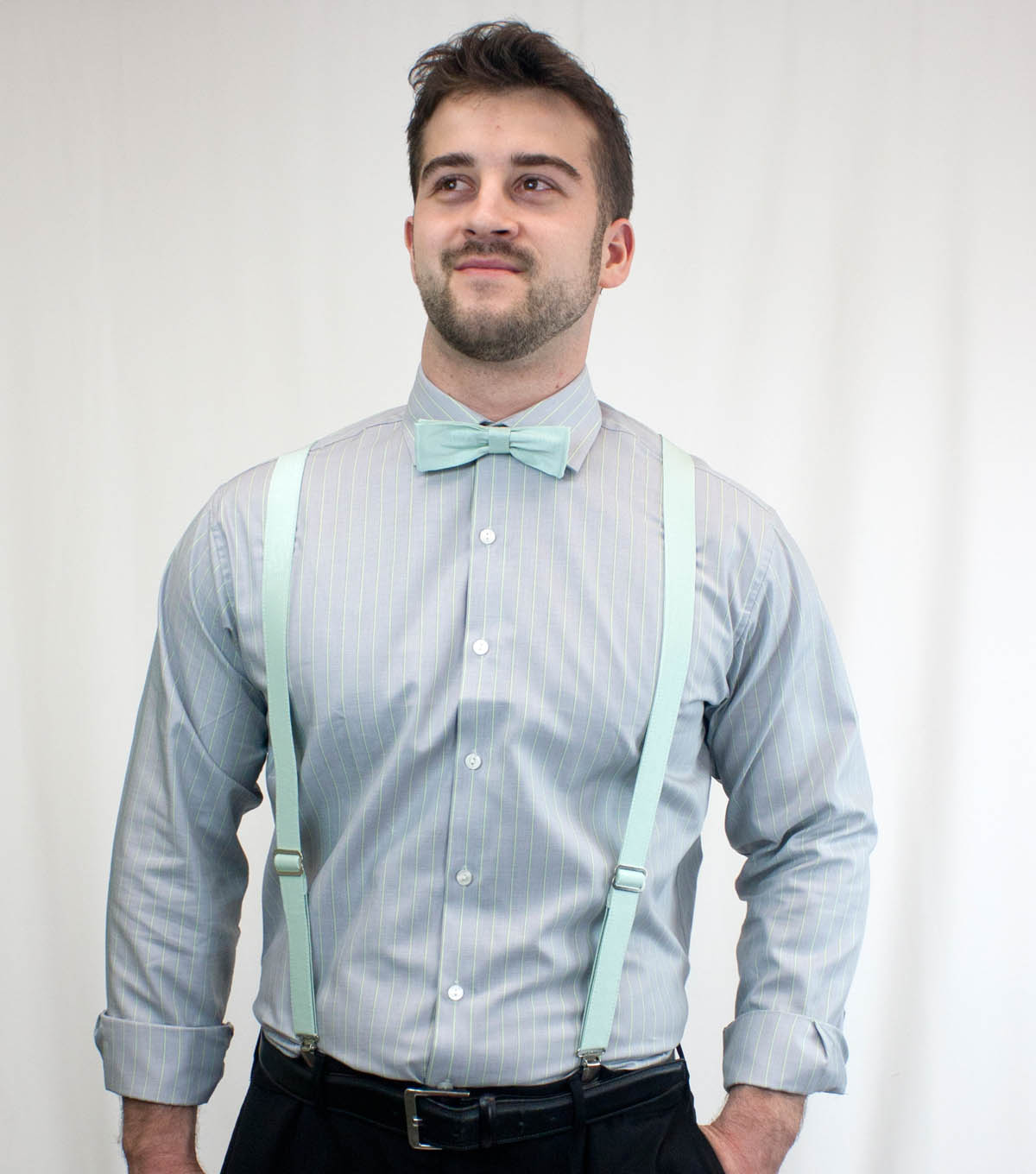 David Tutera Fabric Bow Tie and Suspenders