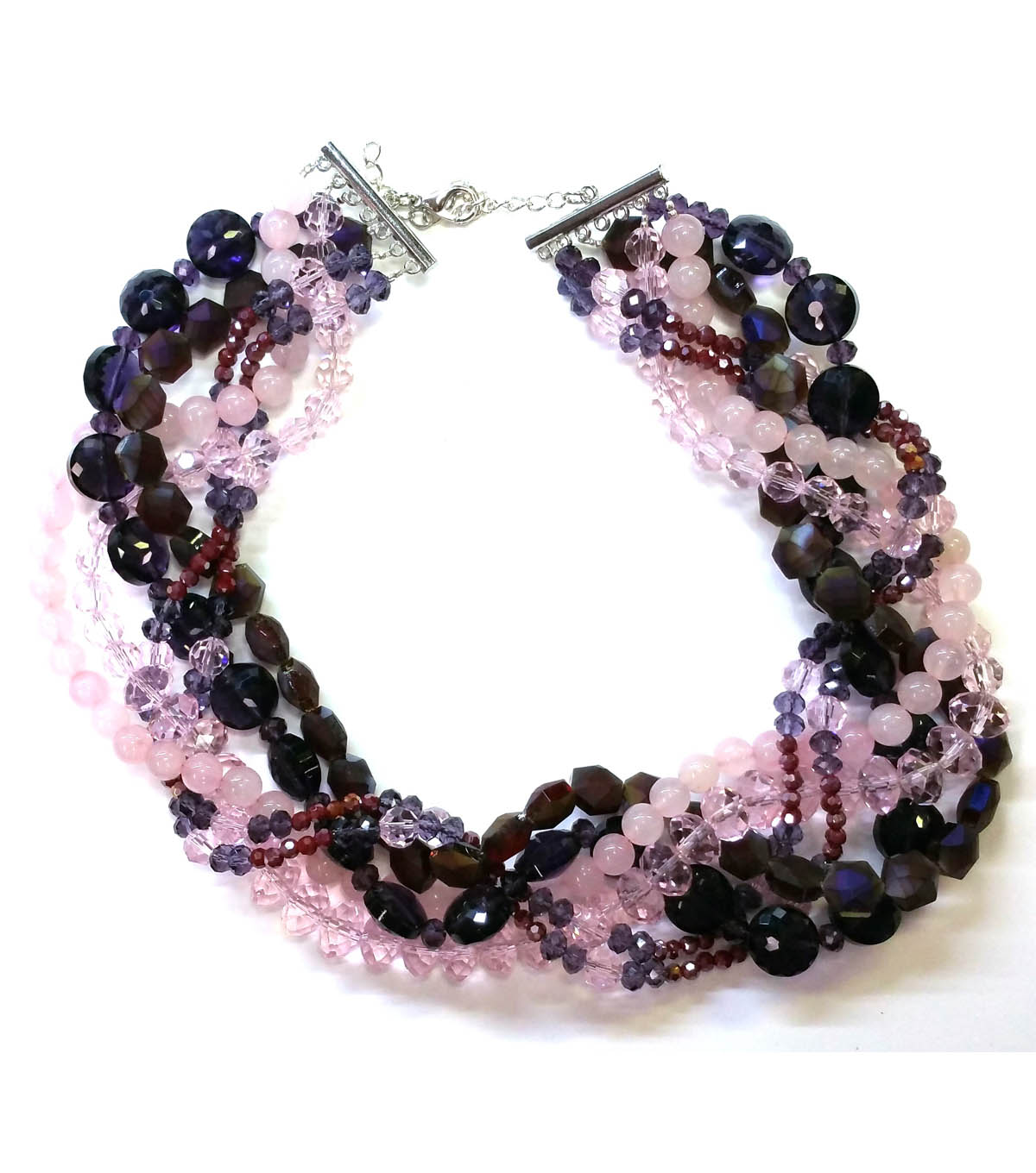 Burgundy and Plum Twisted Necklace