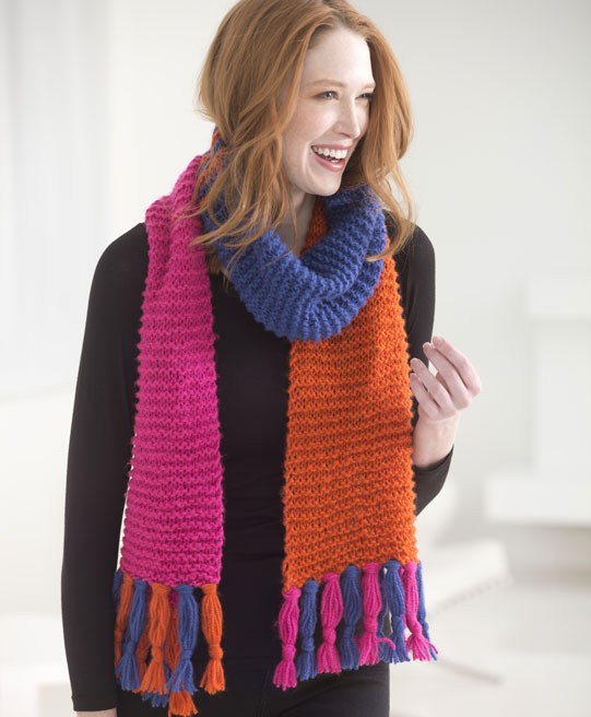 How To Make A Spicy Striped Scarf