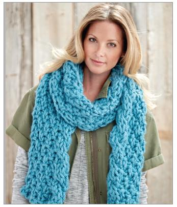 Cable Edge Knit Scarf