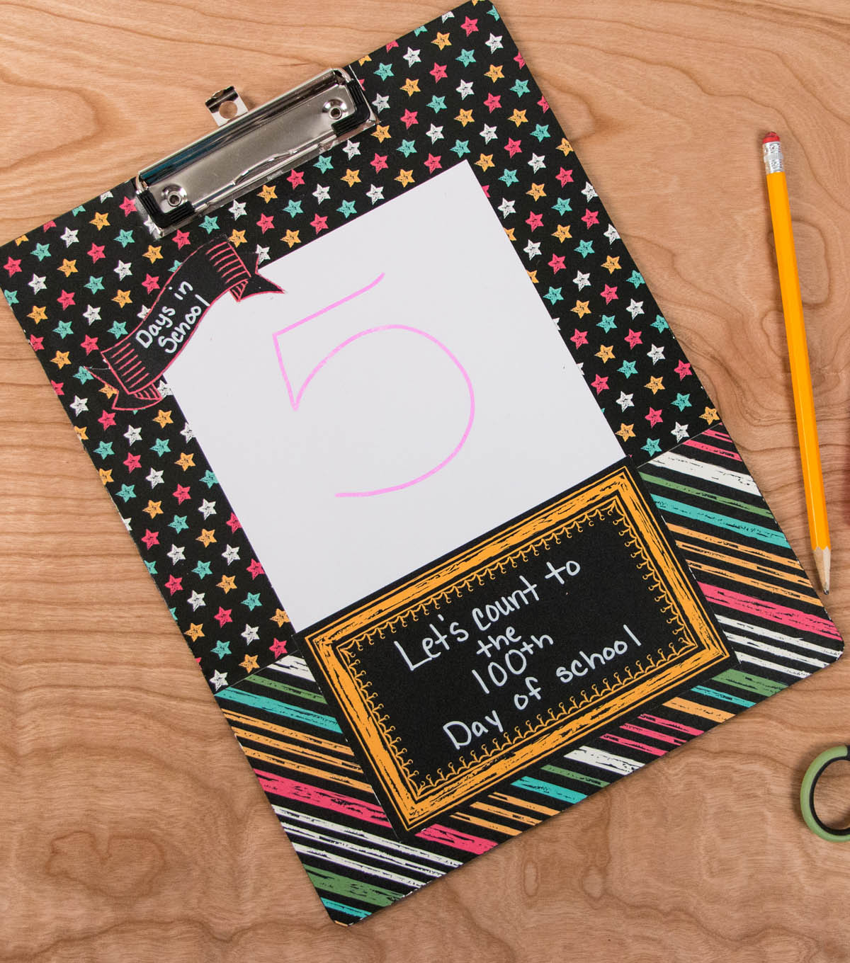 100th Day Clipboard Countdown