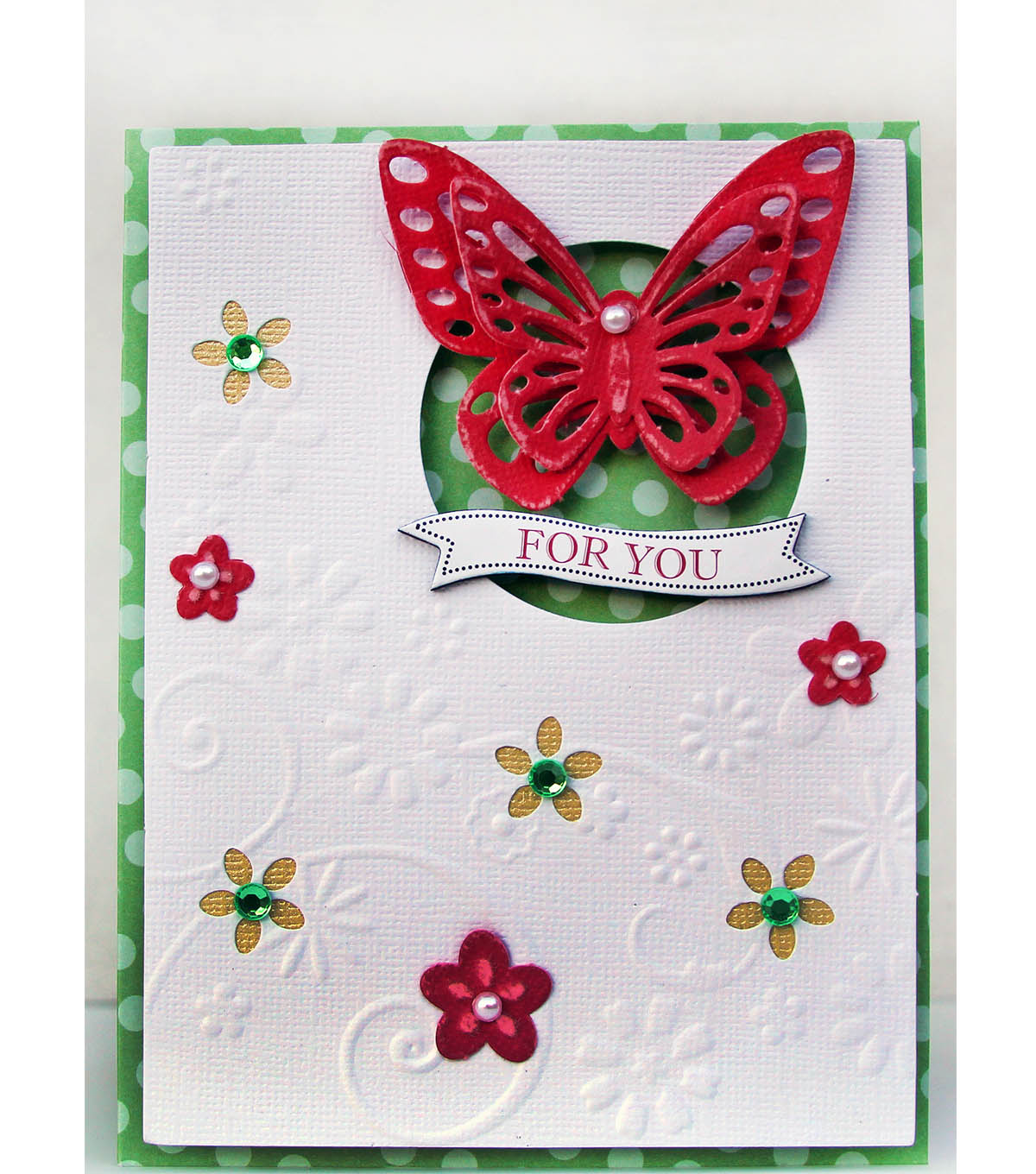 "David Tutera Celebrate Card:  ""For You"" Butterfly Card"