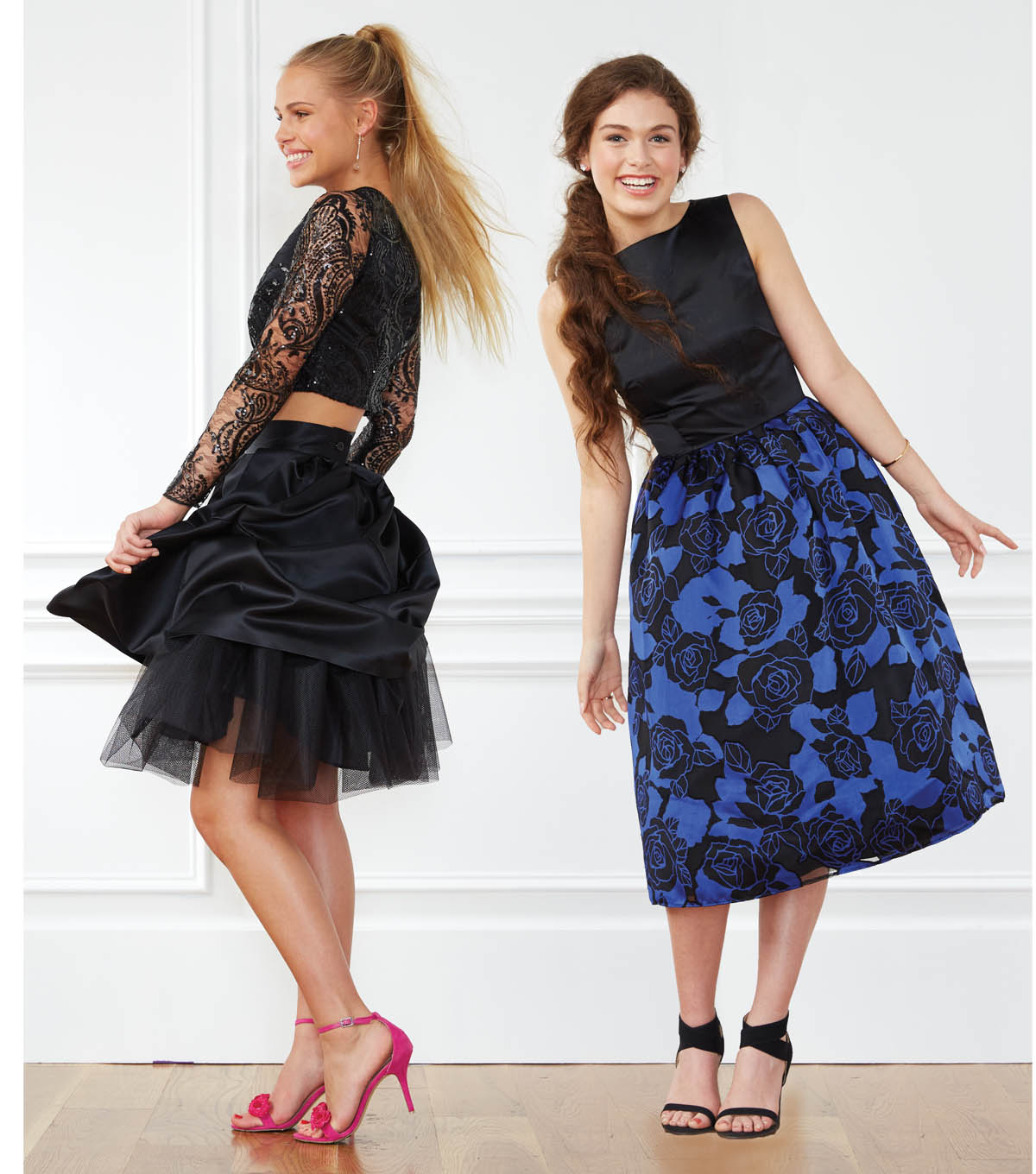 Black Lace Top and Skirt