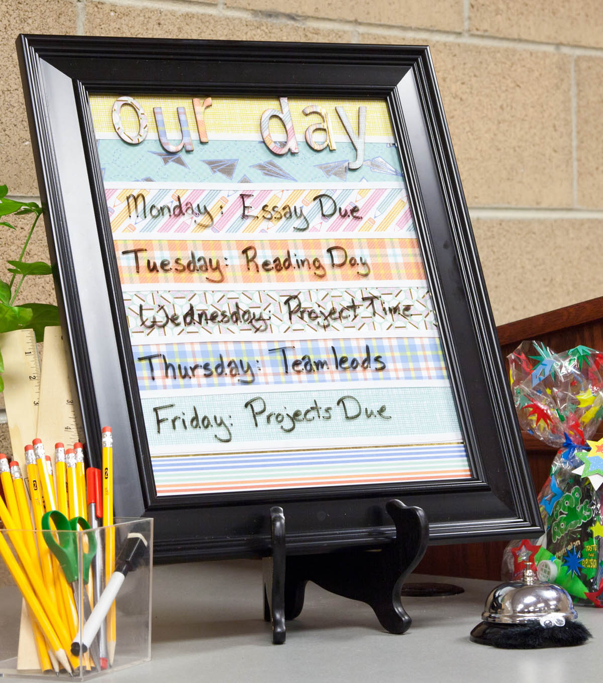 """Our Day"" Framed Schedule"