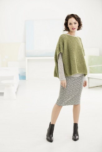 Open Work Poncho