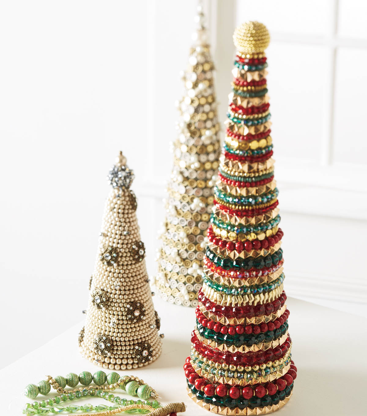 Beaded Holiday Trees