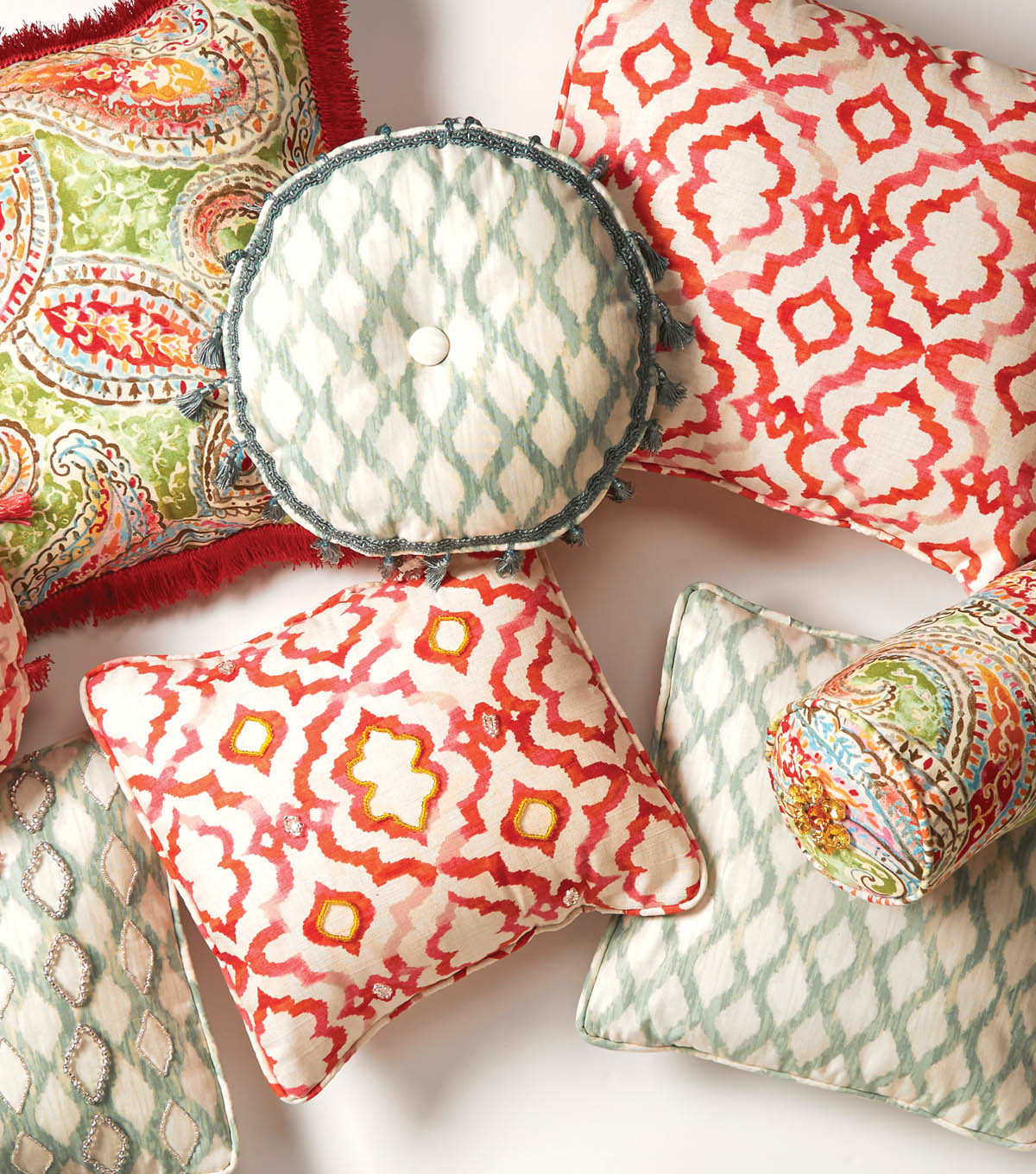 Embellished Pillows
