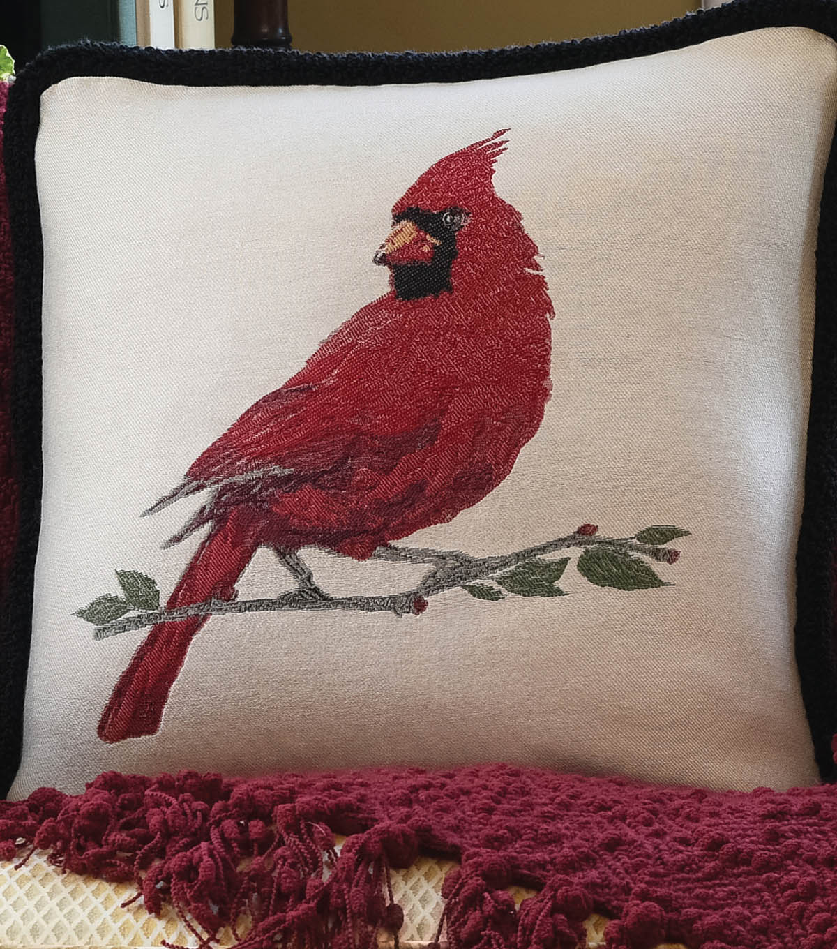 Square By Design® Pillow with Fringed Trim