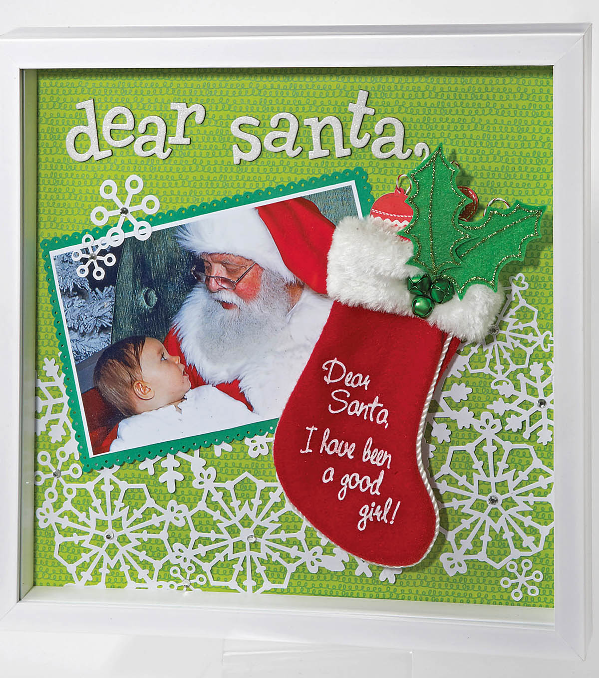 Christmas \u0022Dear Santa\u0022 Shadowbox