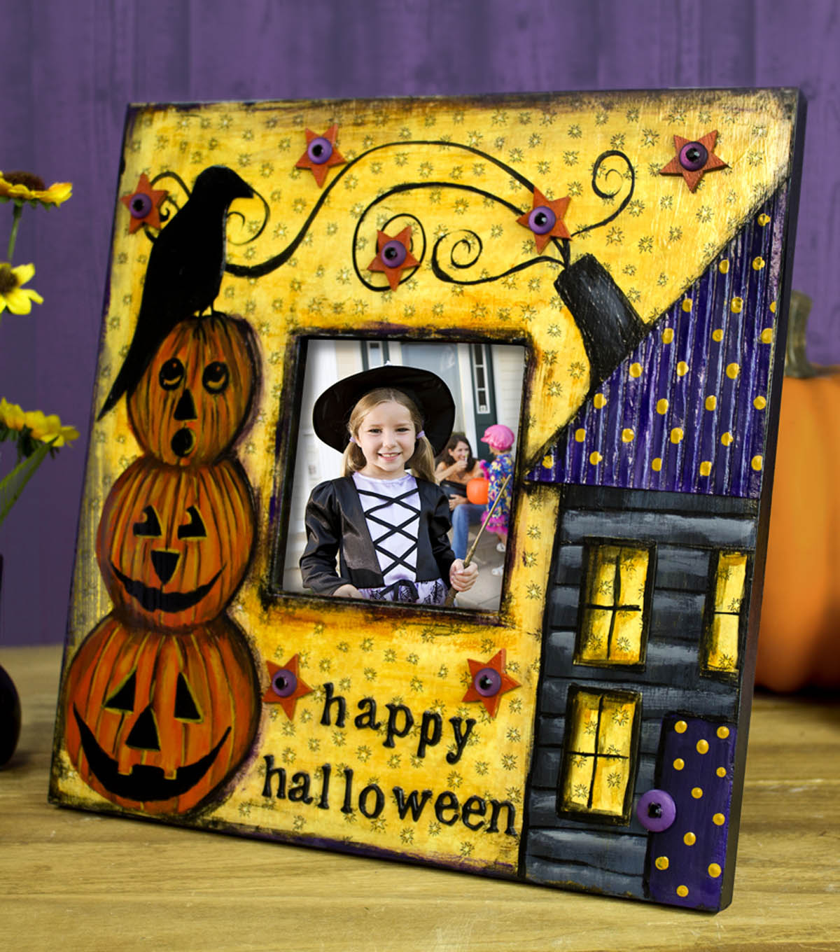 Halloween Mixed Media Frame