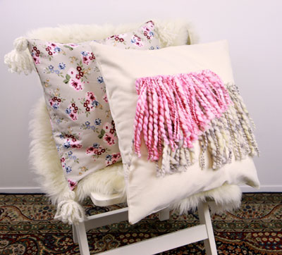 Buttercream™ Elizabeth Collection Yarn Decorated Pillow Covers