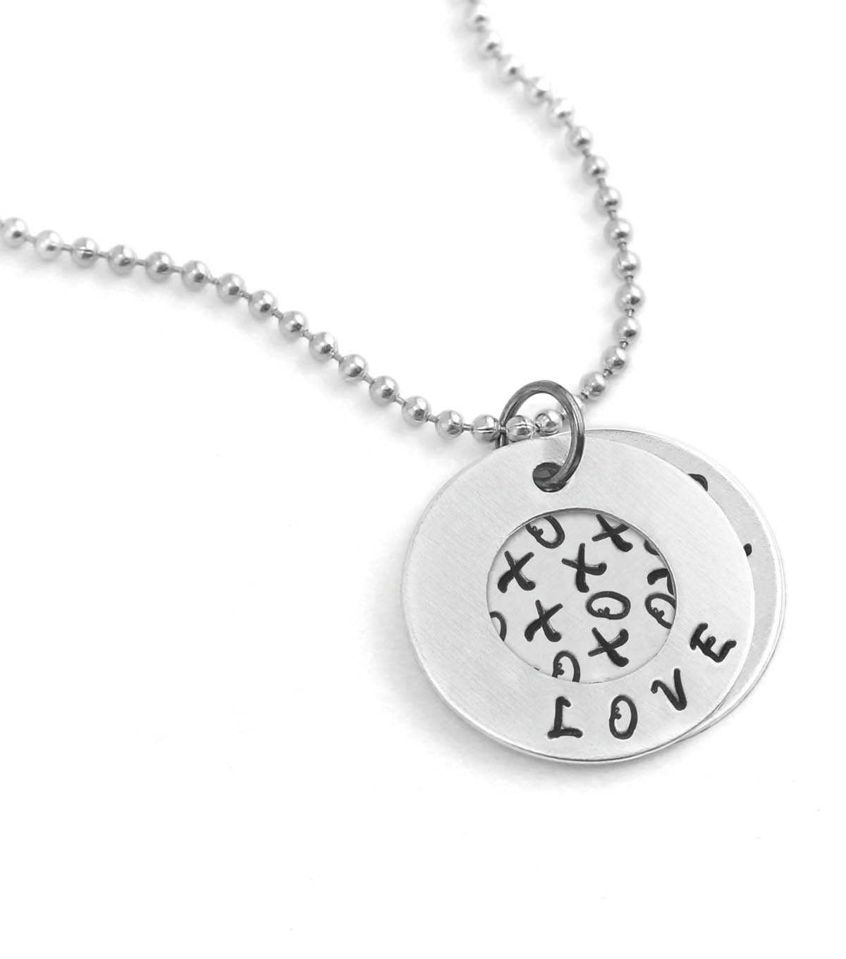 Stamped Love Necklace