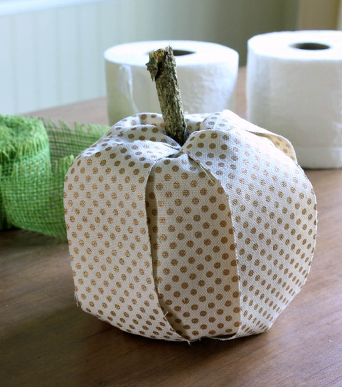 Daisy Mae Belle\u0027s Toilet Paper Roll and Ribbon Pumpkins