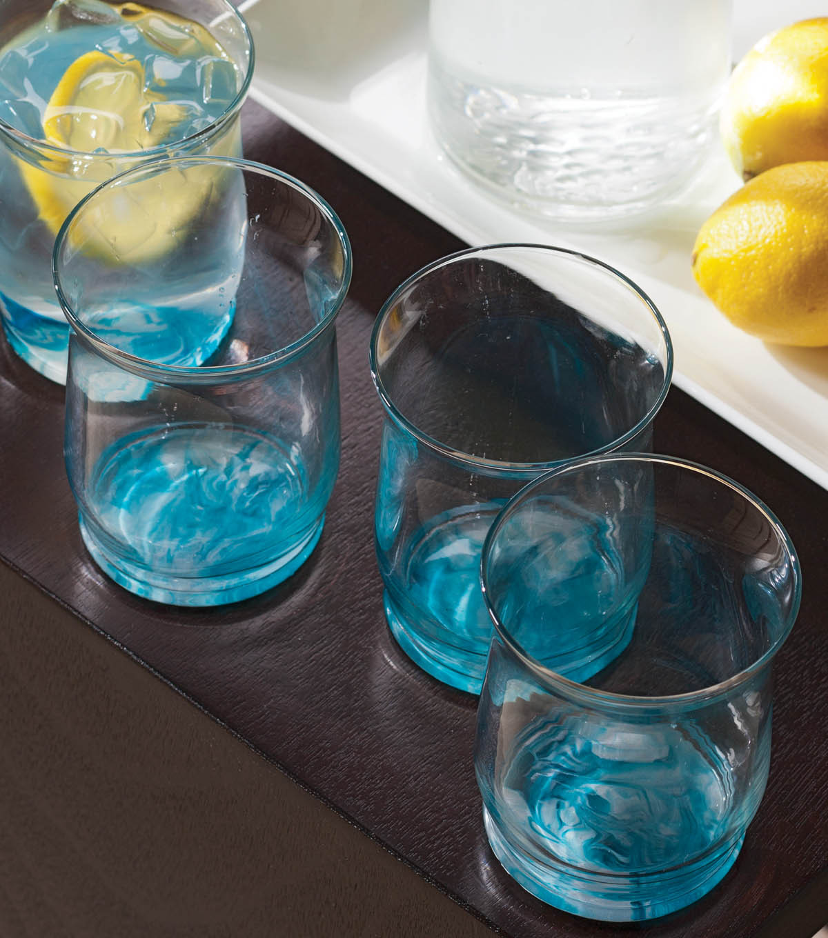 Marble Painted Drinking Glasses