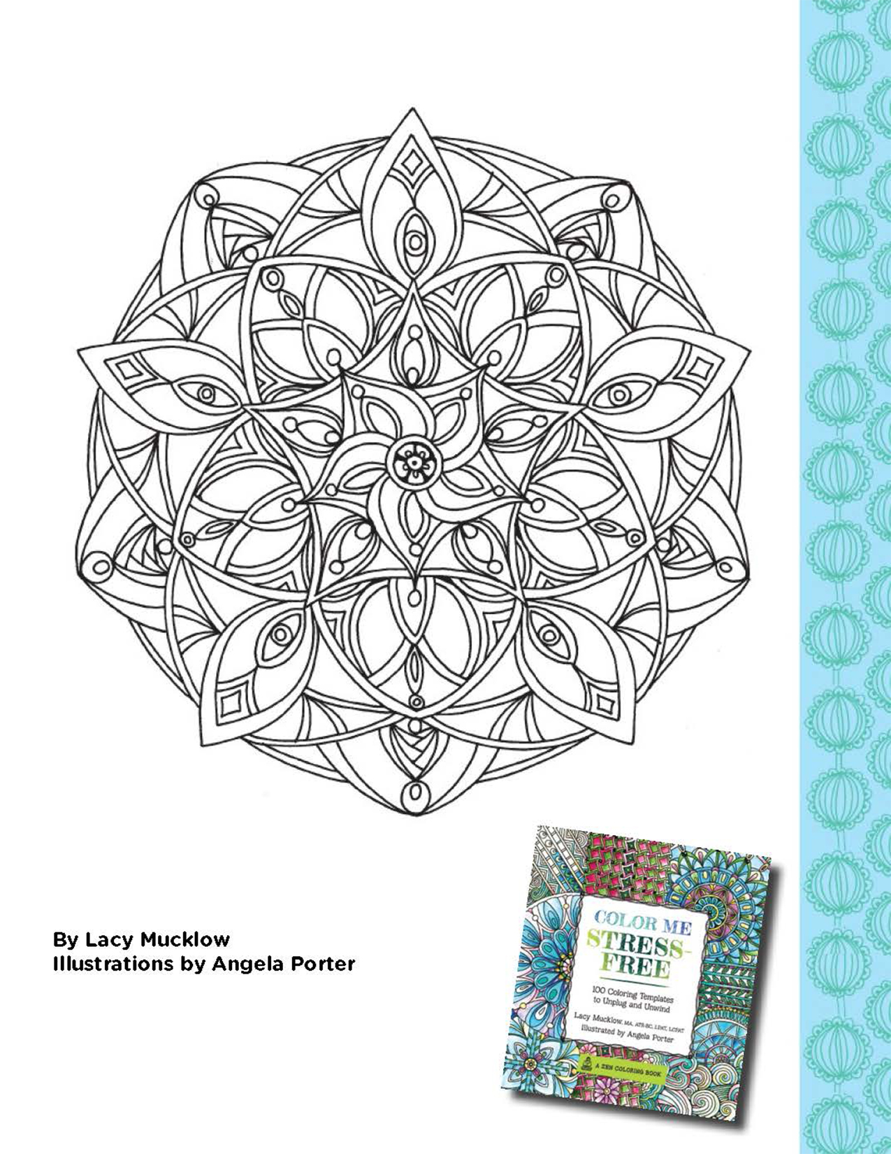 Stress free coloring images - Color Me Stress Free Coloring Book Printable