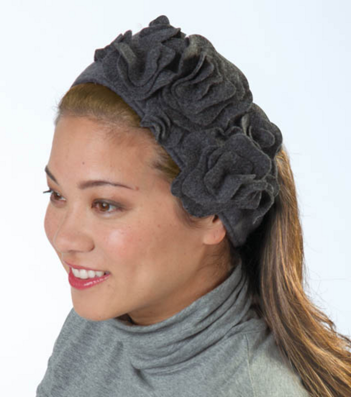 Fleece Flower Ear Warmer