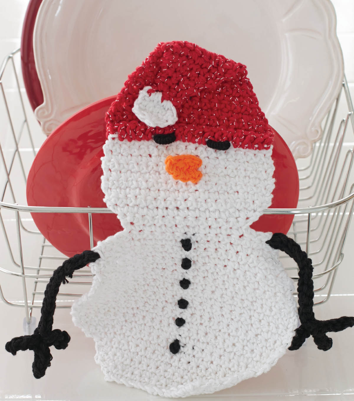 Snowman Dishcloth