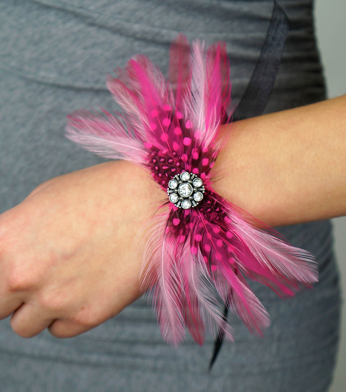 Feather Wrist Corsage