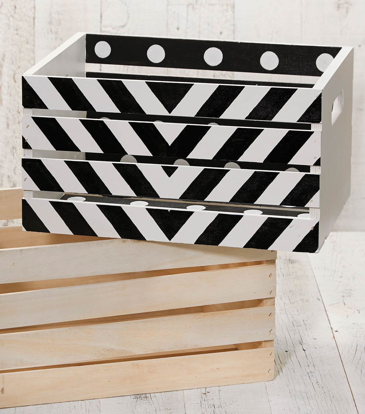 Black and White Crate