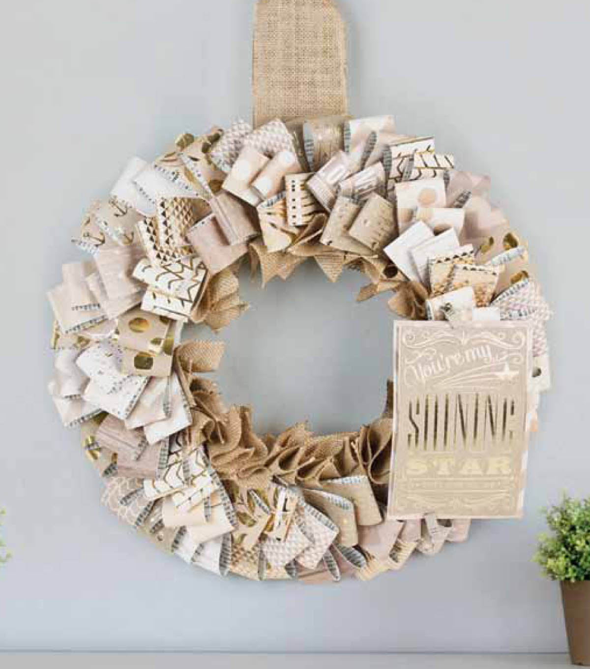 Gold and Kraft Wreath
