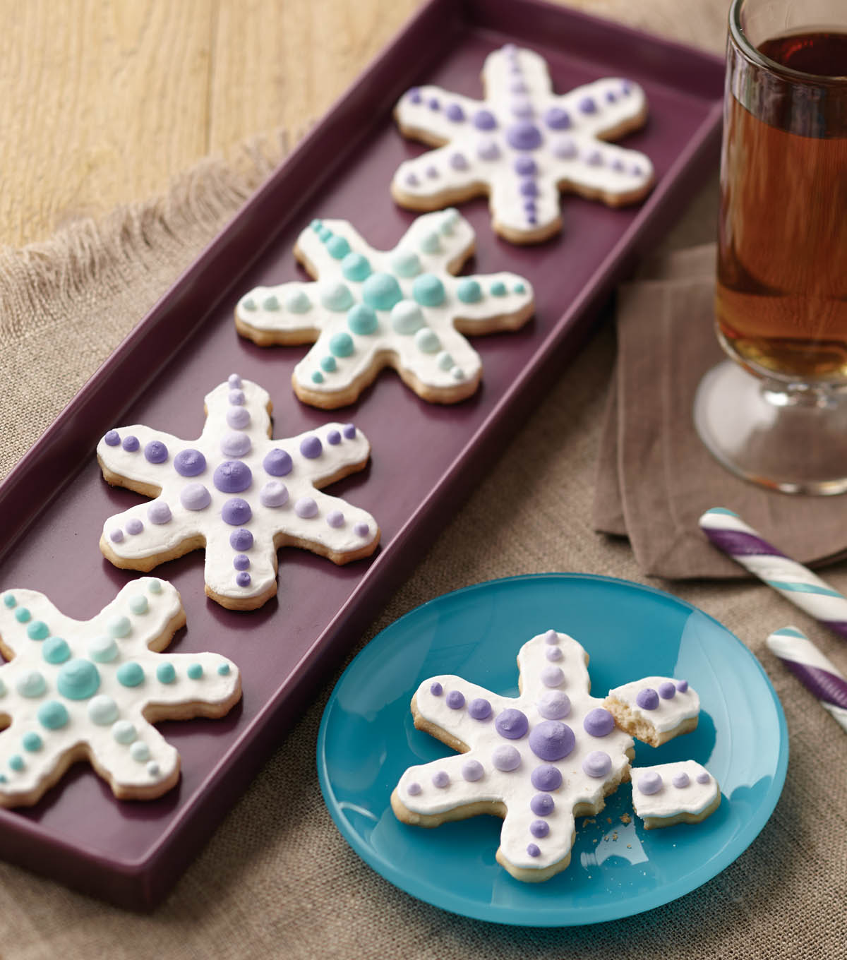 Ombre Snowflake Cookies