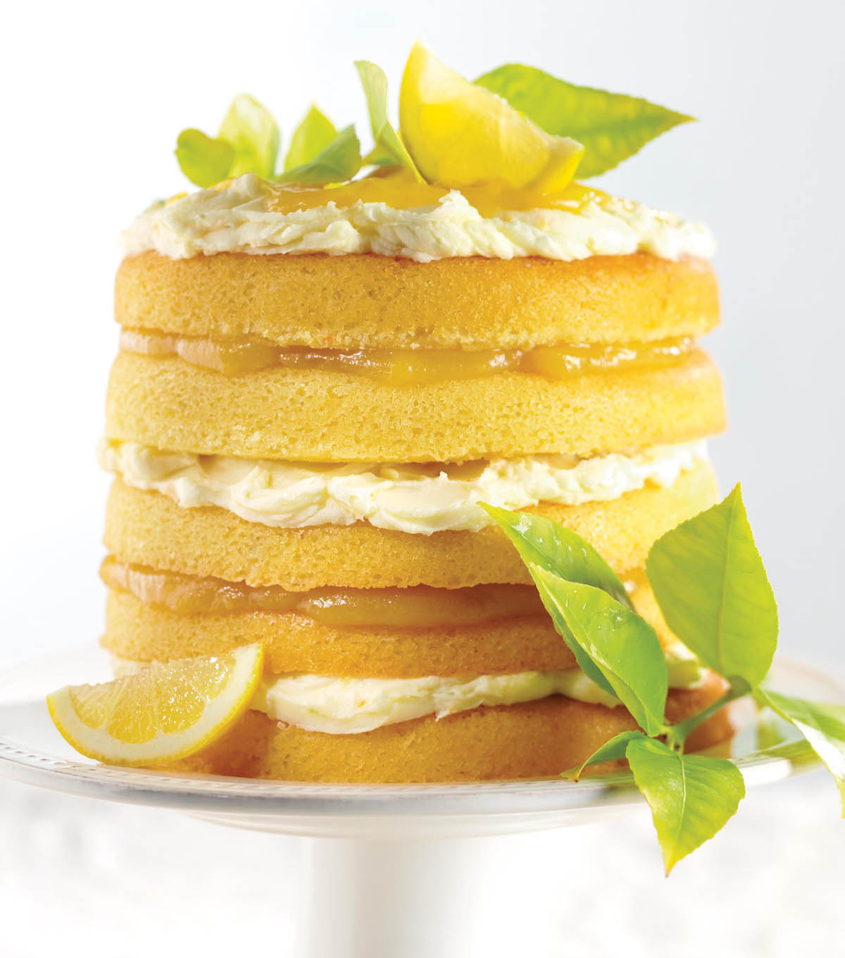 Citrus Burst Layered Cake
