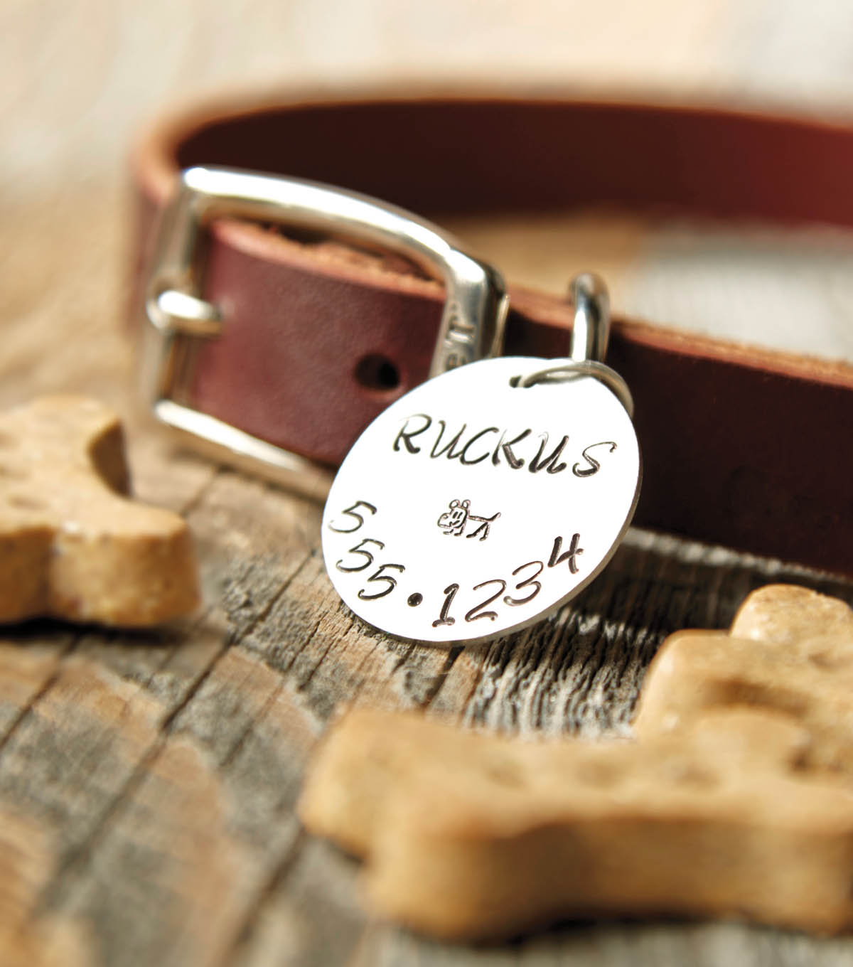Hand Stamped Pet ID Tag